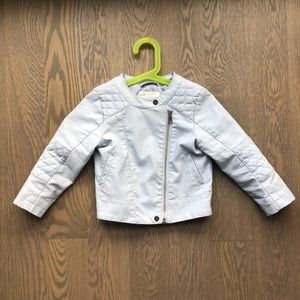 Toddler motto faux leather jacket, Size 2-3Y